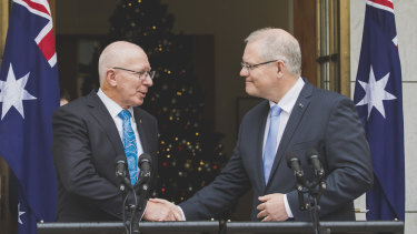 "Scott Morrison said David Hurley was his ""first and only choice"" for the position."