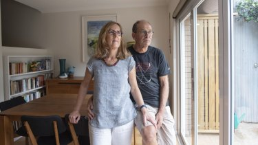 Clare Payne, pictured with her husband David Payne, was diagnosed with EGFR mutant non-small cell lung cancer in June.