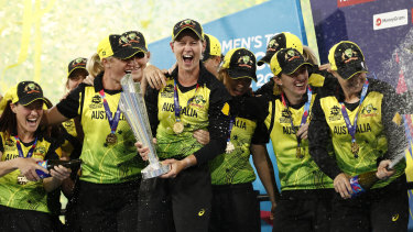 Australia's women won the T20 World Cup in their last competitive match in March.