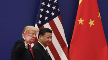 Donald Trump with his Chinese counterpart Xi Jinping in Beijing in November.