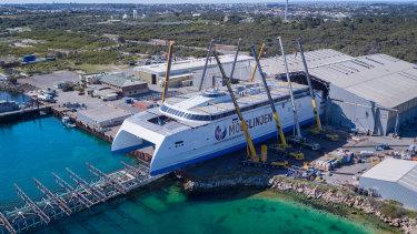 Austal's new catamaran is bound for Denmark.