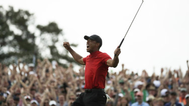 He's back: Tiger Woods seals a remarkable Masters win on Monday.