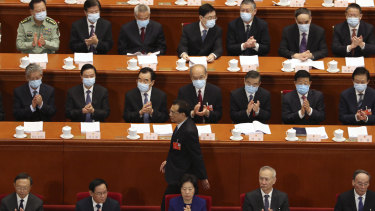 Delegates at Beijing's National People's Congress on Friday.
