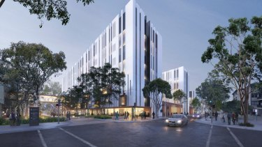 Renders of 2 Campbell Street, Liverpool, Sydney