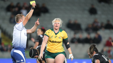 Defining moment: Emily Robinson was yellow-carded in the second half and the Black Ferns took advantage.