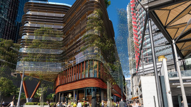"""Daramu House, which means """"tree house"""" in the Aboriginal Sydney language, (also known as Dharug and Eora) is the second timber building at Barangaroo South."""