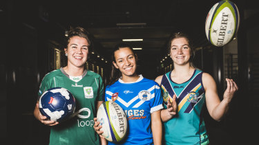 The University of Canberra side has drawn on players from different sporting backgrounds.