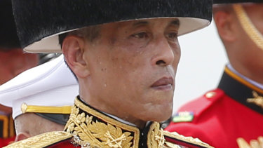 Thailand's King Maha Vajiralongkorn  pictured in 2017.