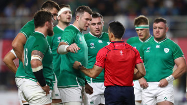 Impressive: Nic Berry controlled the flashpoints in the Ireland-Samoa match with a level head.