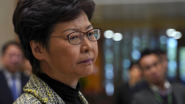 Carrie Lam attended an emergency meeting on the protests roiling Hong Kong.