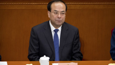Then-party secretary of Chongqing, Sun Zhengcai, attends a plenary session of China's National People's Congress in the Great Hall of the People in Beijing in 2017.