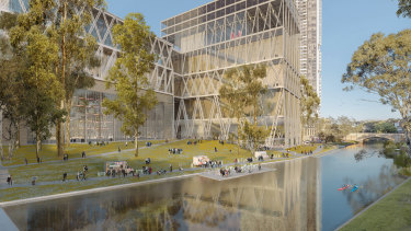 An artist's impression of the new Powerhouse Museum in Parramatta.