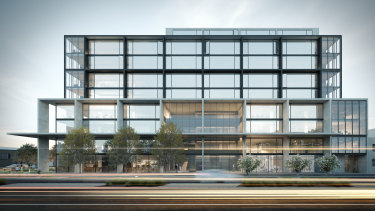 Peregrine Projects' proposed new office at 175 Burnley Street in Richmond.