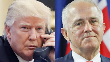 US President Donald Trump hung up on then Australian Prime Minister Malcolm Turnbull during their heated telephone exchange.