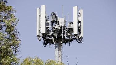 An Optus 5G site in Australia.
