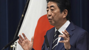 Japanese Prime Minister Shinzo Abe says the Tokyo Games have been postponed.