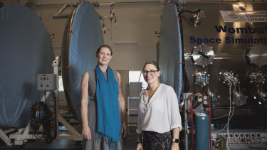 ANU Institute for Space director Anna Moore and executive director Milica Symul.