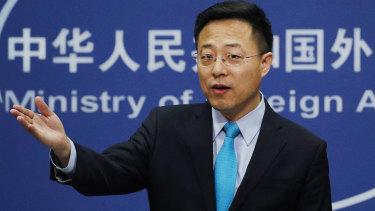 Chinese Foreign Ministry spokesman Zhao Lijian.