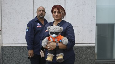 Rob and Patrizia Cassaniti, parents of Christopher Cassaniti who was killed in a workplace incident in 2019,