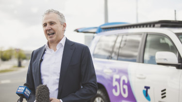 """mmWave will supercharge 5G,"" says Telstra CEO Andy Penn."