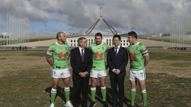 Huawei Australia extended its deal with the Canberra Raiders last year.