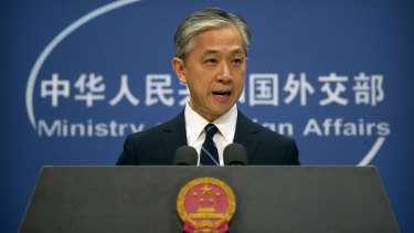 China's Foreign Ministry spokesman Wang Wenbin.