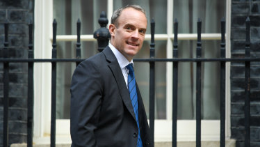 Dominic Raab, UK Foreign Secretary, in London on Tuesday.
