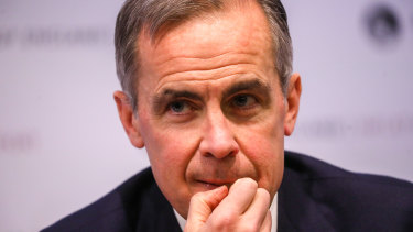 """Bank of England governor Mark Carney says he will aproach Libra with """"an open mind, but not open door""""."""