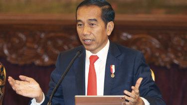 Backflip: Indonesian President Joko Widodo.