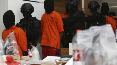 Indonesian police say they have arrested suspected militants following a tipoff about a possible attack during the announcement of presidential election results next week.