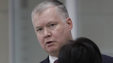 US Special Representative for North Korea, Stephen Biegun, in Seoul on Wednesday.
