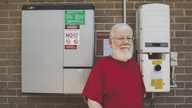 Cook resident Bob Hay, 82, who has seen a drastic reduction in bills since having rooftop solar panels installed.