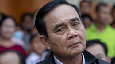 Facinga  censure debate: Thai Prime Minister Prayuth Chan-ocha.