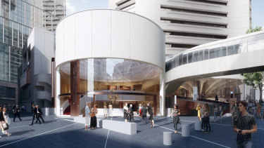 Artist's impression of the Theatre Royal, MLC Centre (view from King Street).