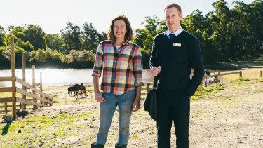 Celia Pacquola and Luke McGregor is season five of Rosehaven.