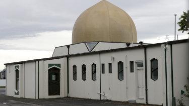 The Al Noor mosque in Christchurch, New Zealand.