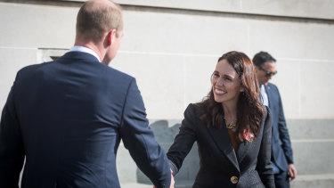 Prince William stood alongside Prime Minister Jacinda Ardern during the event.