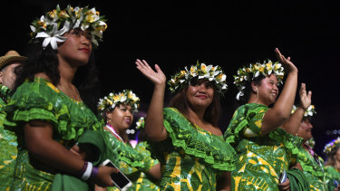Athletes from the Cook Islands at the Commonwealth Games opening ceremony. More trade could see many more lifted out of poverty, says a UK committee.