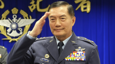 Taiwan's top military official Shen Yi-ming, pictured in March last year.