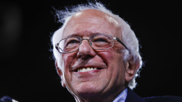 Democratic presidential candidate Senator Bernie Sanders in his state of Vermont on Super Tuesday.