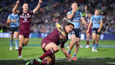 Tryscorer Josh Papalii was one of the best in the beaten Queensland side.