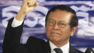 Cambodian opposition leader Kem Sokha is on trial for treason charges.
