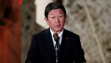Japan's Foreign Minister Toshimitsu Motegi.
