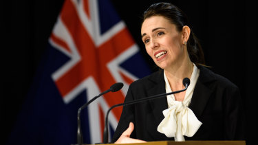 New Zealand Prime Minister Jacinda Ardern discusses the COVID-19 outbreaks in Auckland on Thursday.