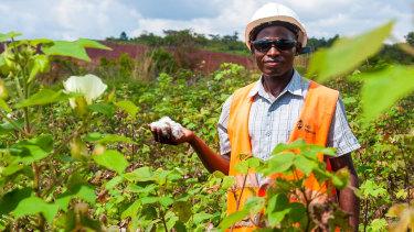 A farmer on Cotton On's farming project in Kwale, Kenya.