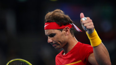 Nadal wasn't happy with the Serbian fans.