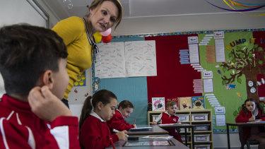 Year 3 students in their classroom, Emu Plains Public School.