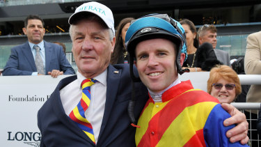 Tommy Berry and Greg Hickman after Pierata won the The Shorts last month.