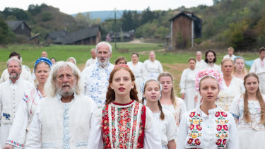 Ari Aster's folk horror movie Midsommar.