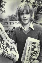 After selling newspapers for two years 14-year-old Tony Barnett saved up $1,700 to take him to the 1975 International Scout Jamboree in Norway.